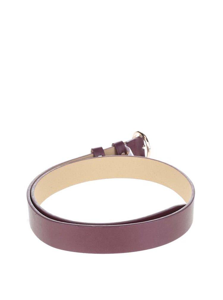 Vínový pásek s kulatou sponou ve zlaté barvě Pieces Pipea