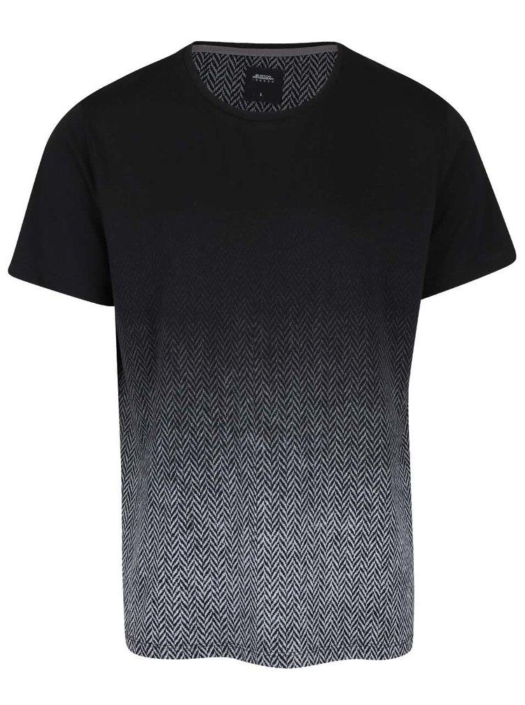 Šedo-černé vzorované triko Burton Menswear London