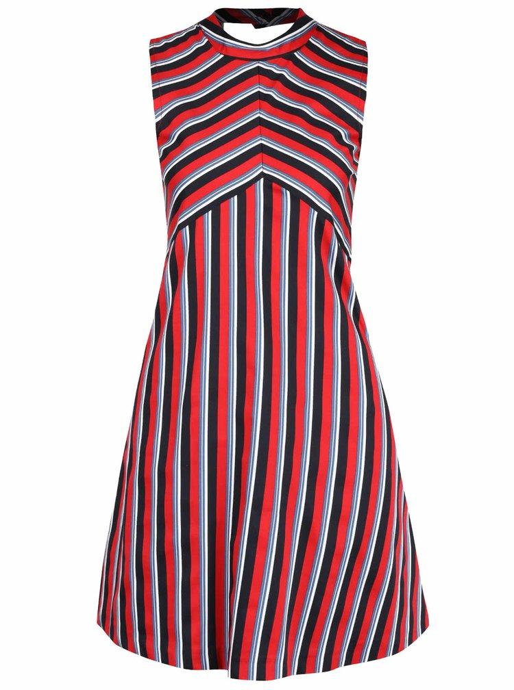 Černo-červené pruhované šaty Closet