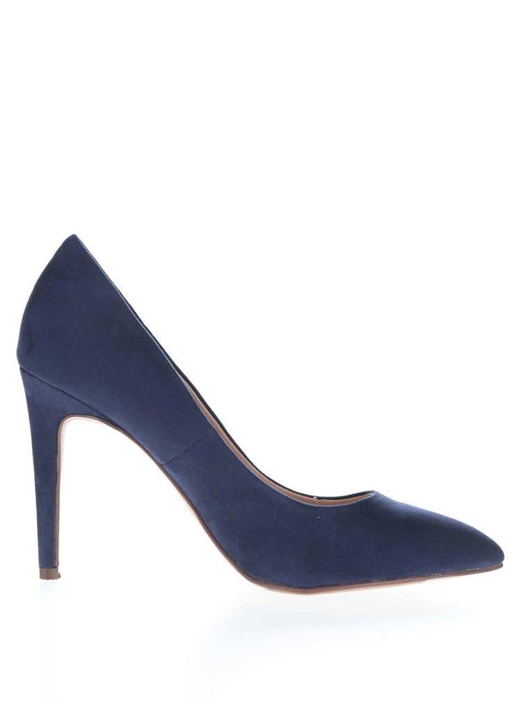 Pantofi cu toc Dorothy Perkins albastru închis