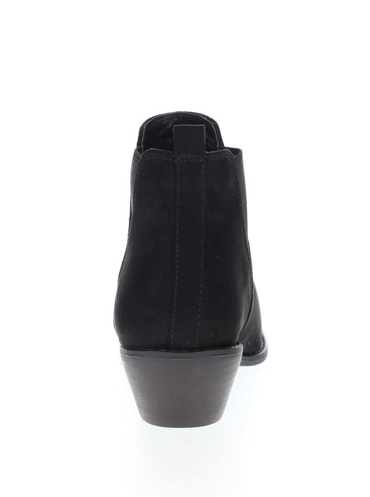 Černé chelsea boty v semišové úpravě Dorothy Perkins