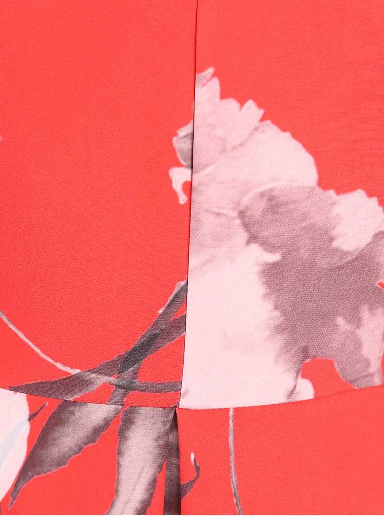 Rochie cu imprimeu floral Closet rosie