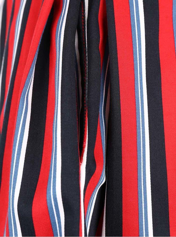 Krémové šaty s pruhovanou sukňou Closet