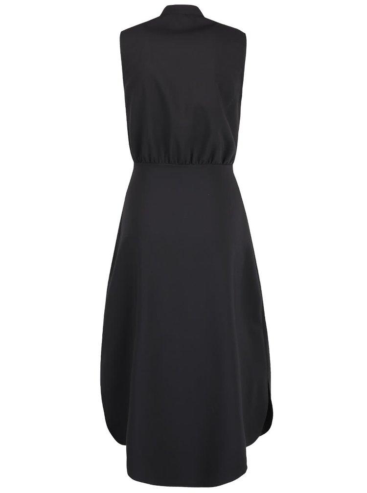 Čierne šaty s gombíkmi v zlatej farbe Closet