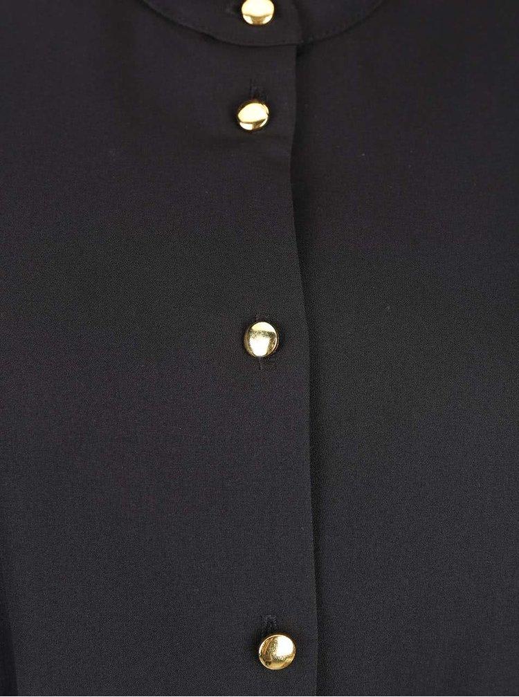 Černé šaty s knoflíky ve zlaté barvě Closet