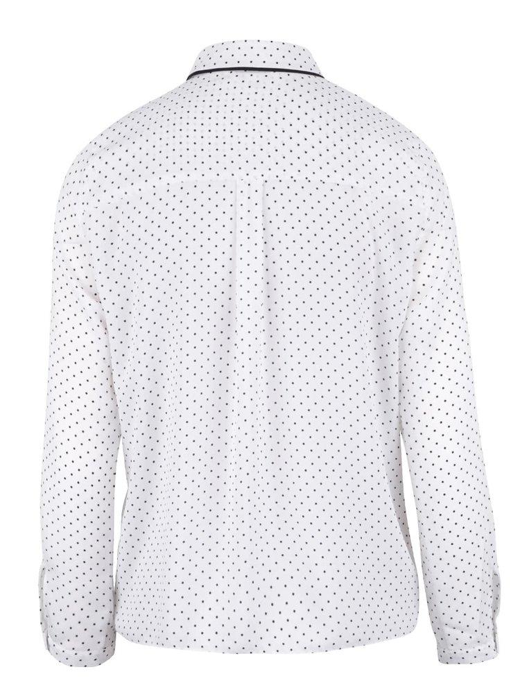 Krémová bodkovaná košeľa Miss Selfridge