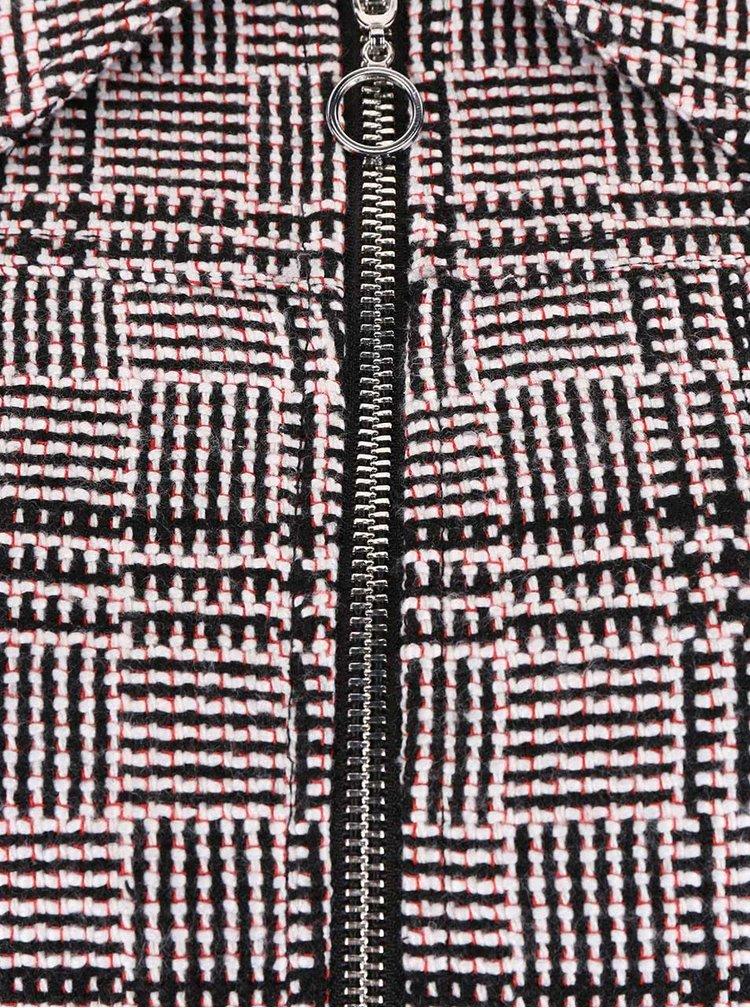 Černo-krémový blejzr na zip Dorothy Perkins