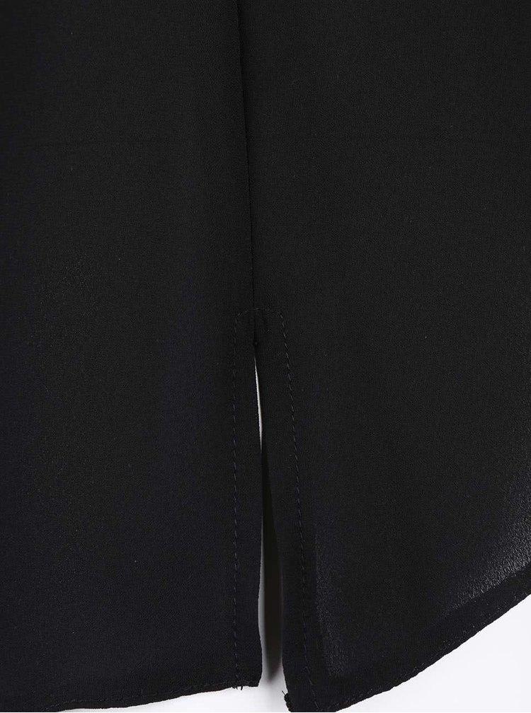 Čierny dlhý kardigan s rozparkom Dorothy Perkins