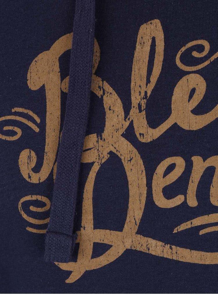 Tmavě modrá mikina s kapucí a klokaní kapsou Blend