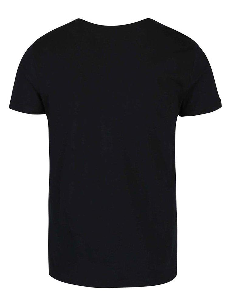Tricou negru cu imprimeu Blend