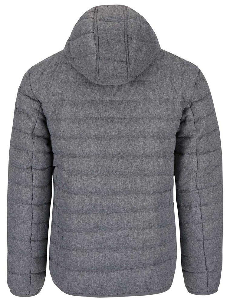 Sivá prešívaná bunda s kapucňou Blend