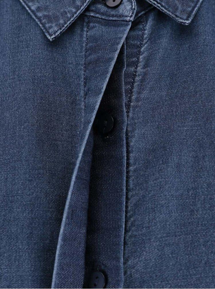 Cămașă bleumarin din denim VILA San