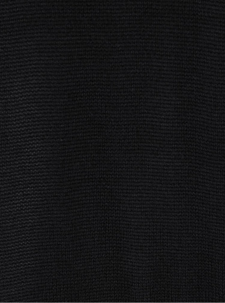 Pulover negru VILA Obi cu guler amplu