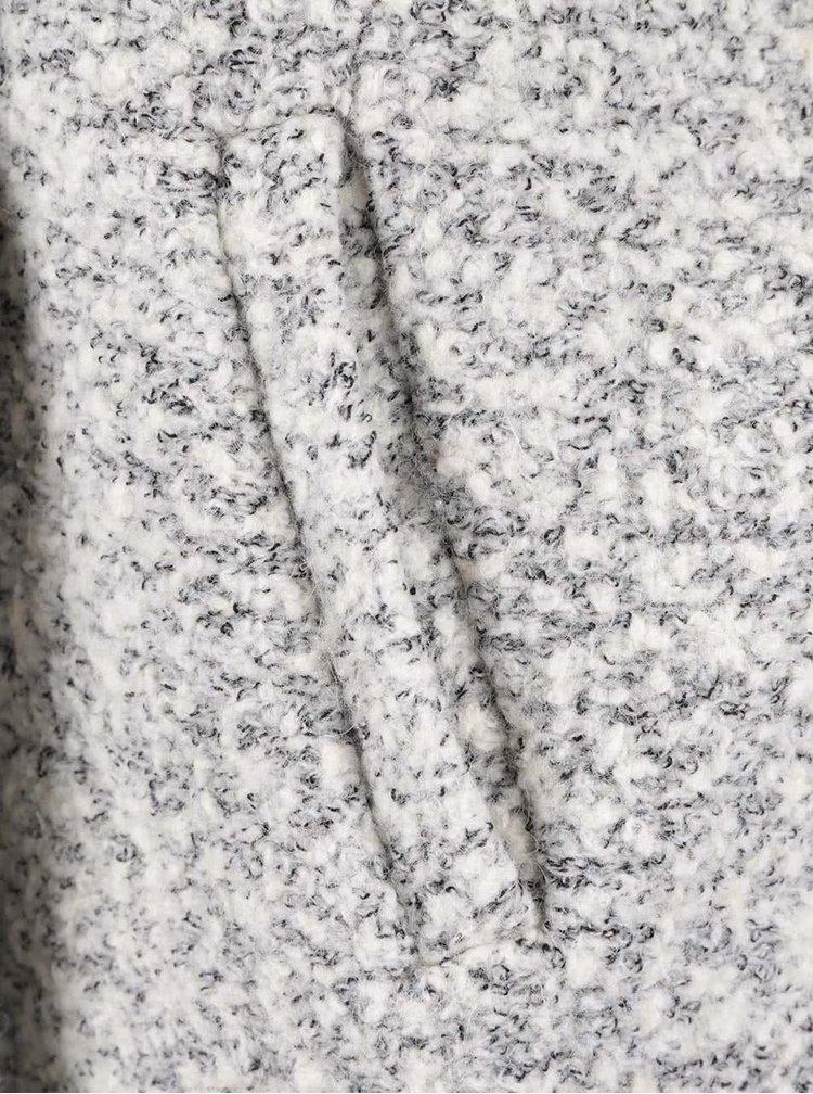 Palton gri VILA Winter din material boucle