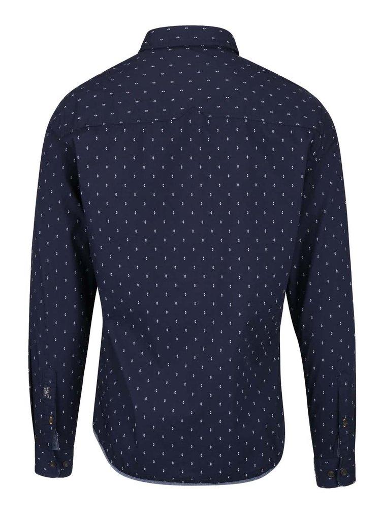 Tmavomodrá vzorovaná košeľa Blend