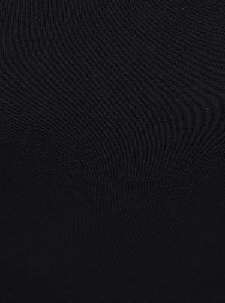 Body negru Miss Selfridge cu decolteu rotund