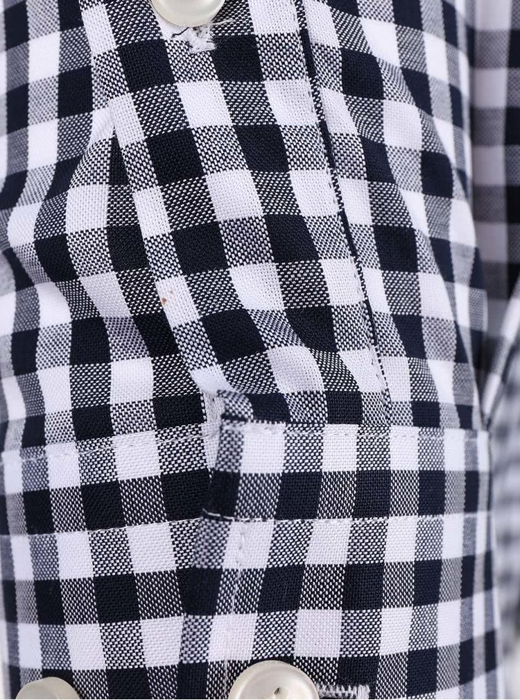 Bílo-modrá kostkovaná košile Jack & Jones Oscar