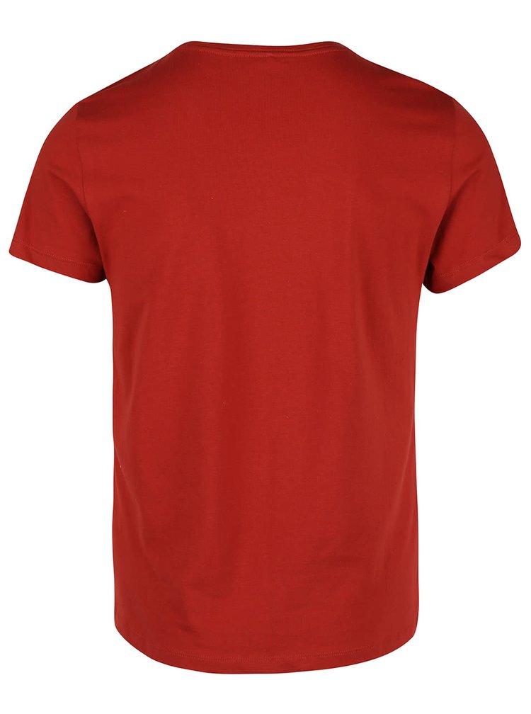 Cihlové triko s krátkým rukávem Blend