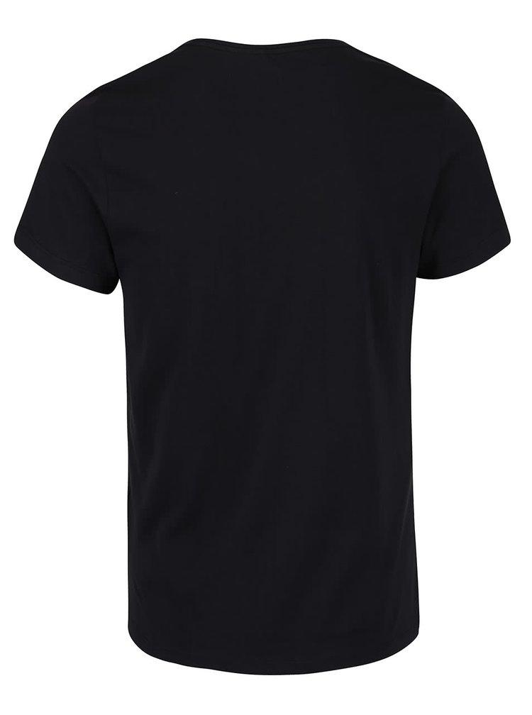 Černé triko s krátkým rukávem Blend