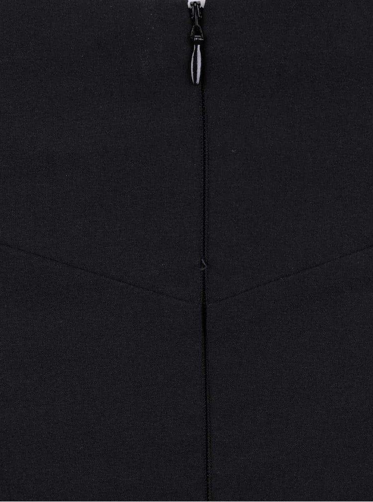 Černý top s lodičkovým výstřihem Miss Selfridge