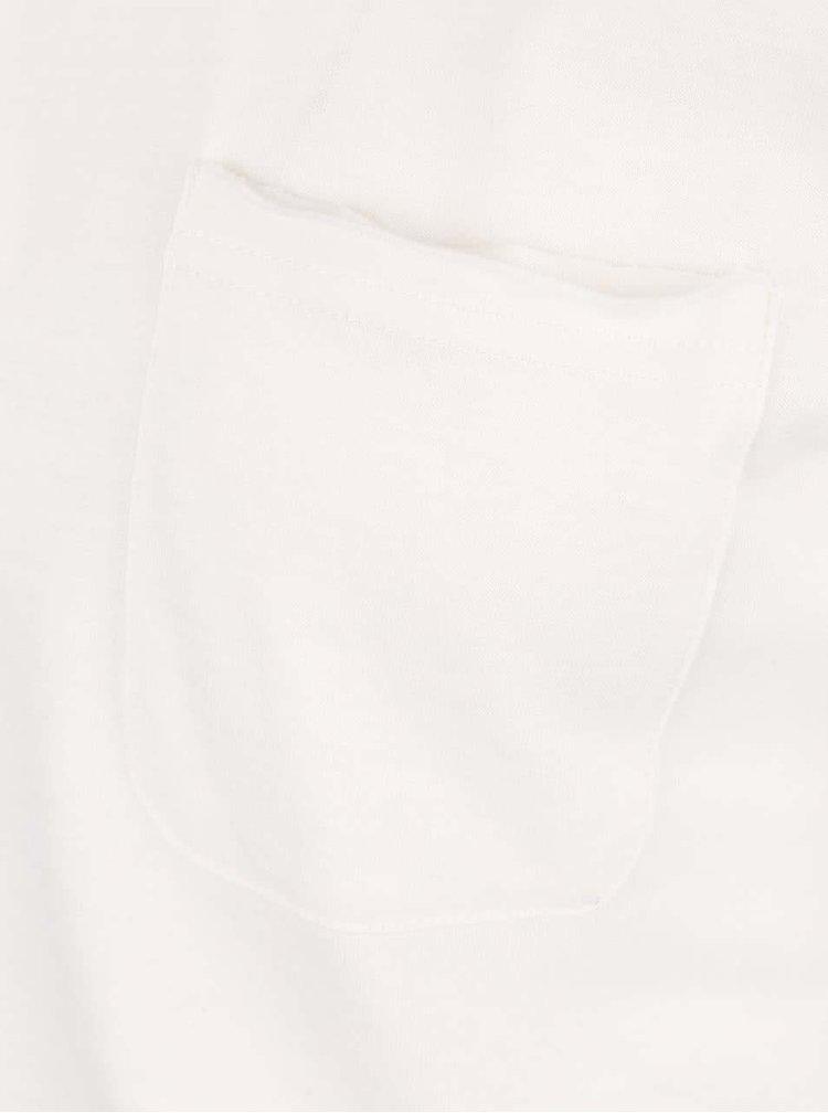 Krémové tričko s vreckom Blend