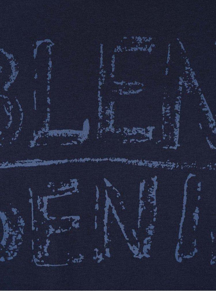 Tmavomodré tričko s krátkym rukávom Blend