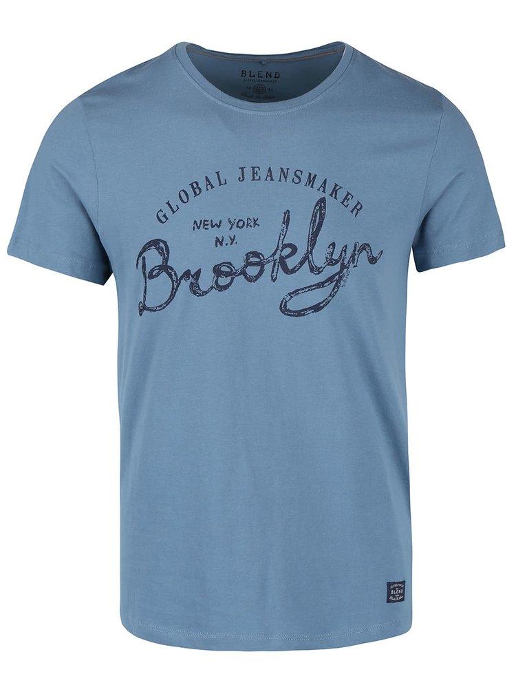 Modré triko s krátkým rukávem Blend