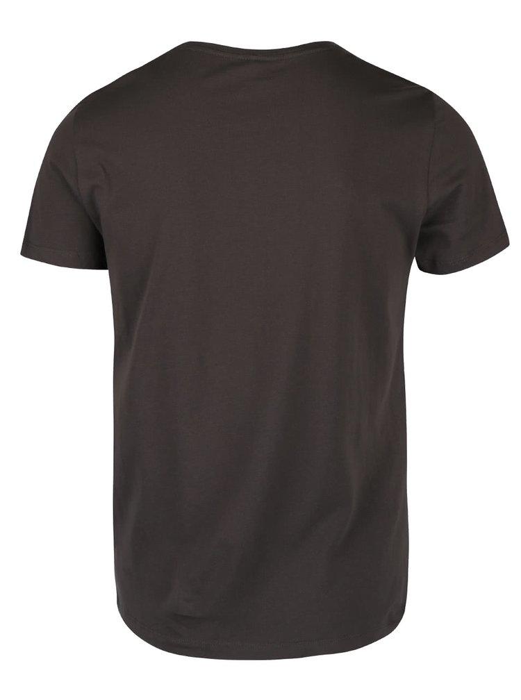 Zeleno-hnědé triko s krátkým rukávem Blend