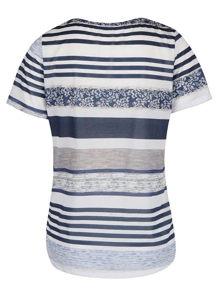 Tricou Dorothy Perkins în dungi alb cu albastru