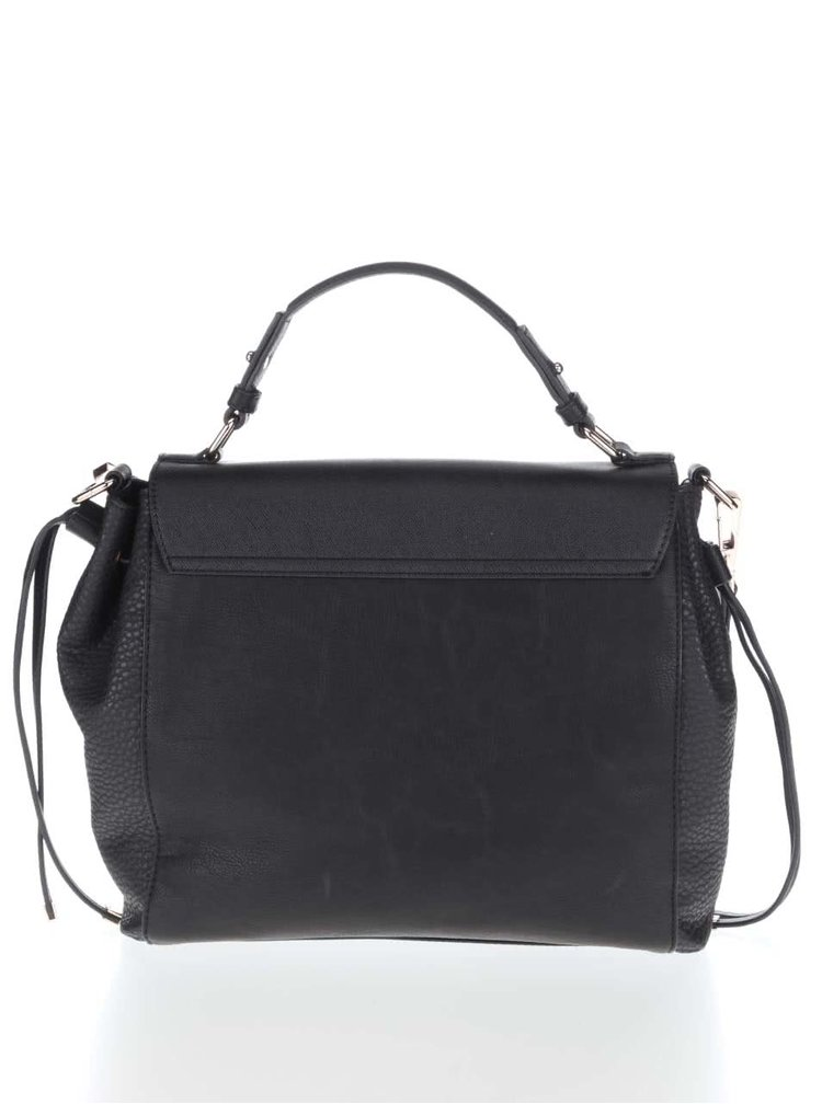 Čierna kabelka cez rameno s detailmi v zlatej farbe Miss Selfridge