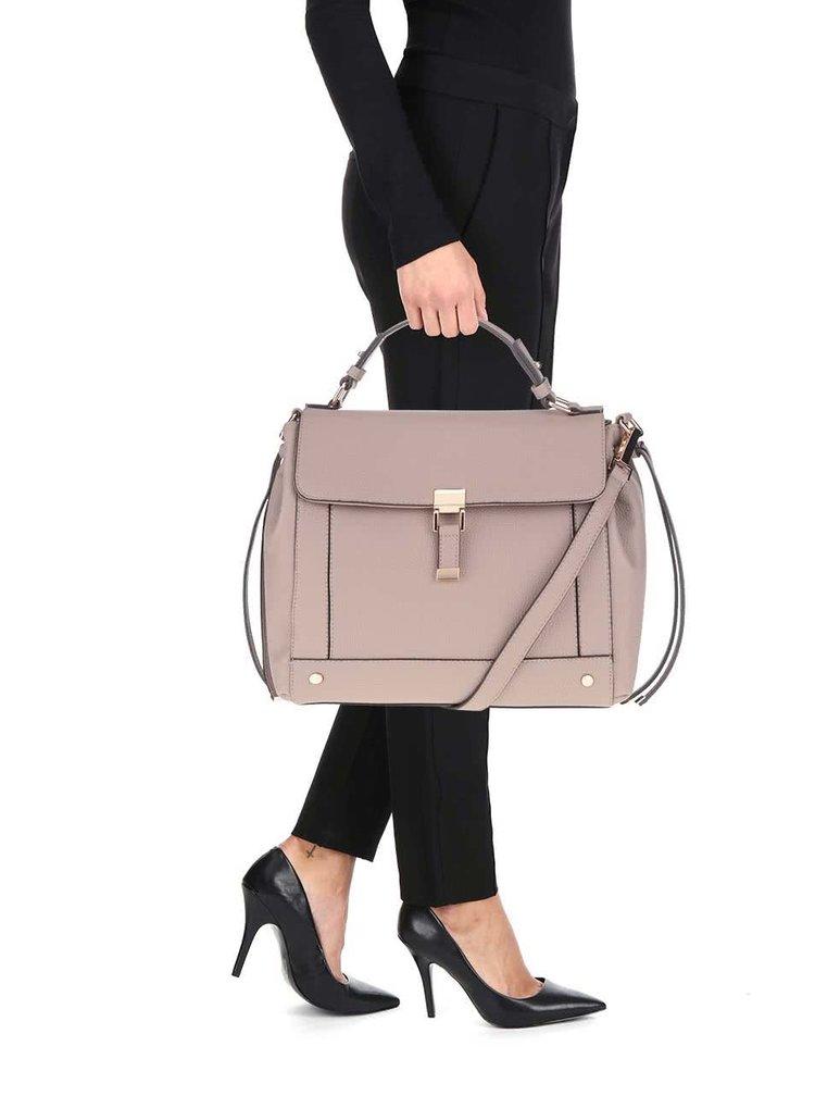 Krémová kabelka přes rameno Miss Selfridge