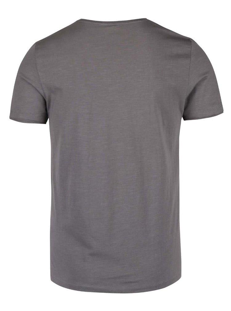 Hnědo-šedé triko s potiskem Blend