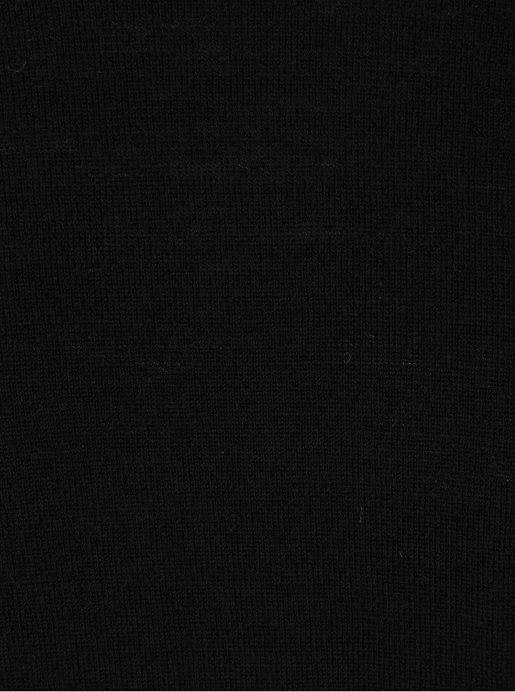 Černý svetr z Merino vlny Selected Homme Tower