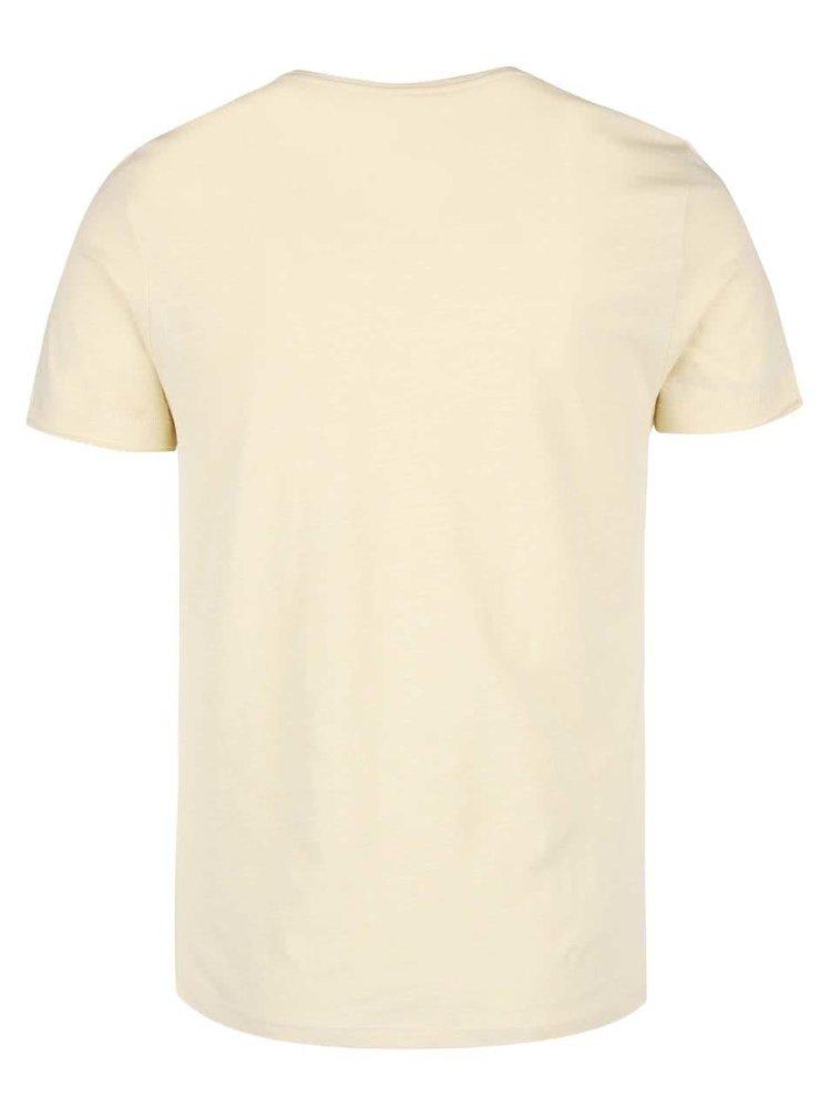 Světle žluté triko s potiskem Blend