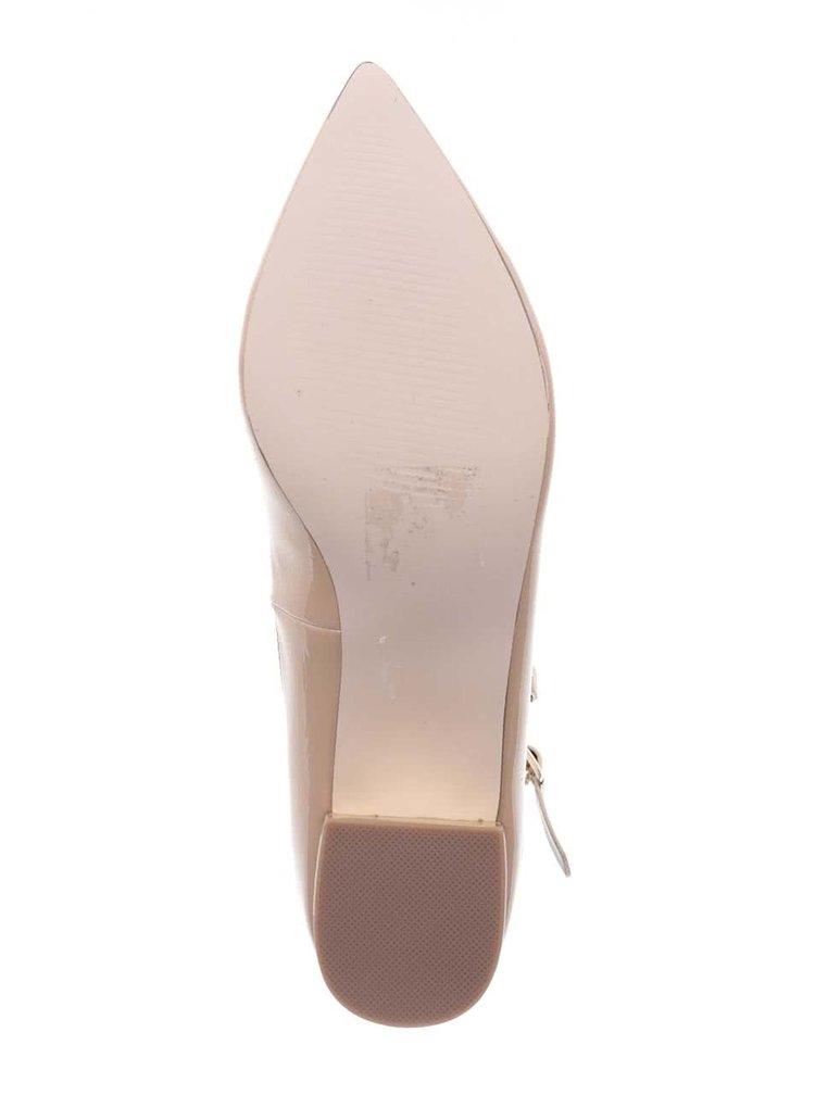 Tělové boty na podpatku s pásky Miss Selfridge