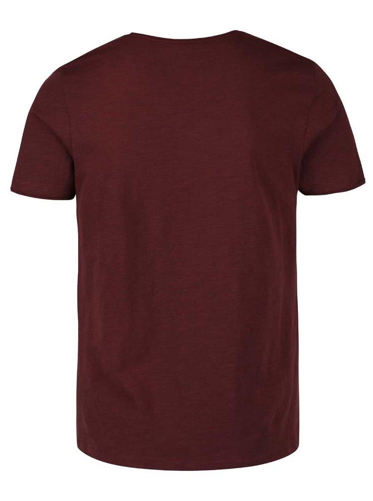 Vínové triko s potiskem Blend