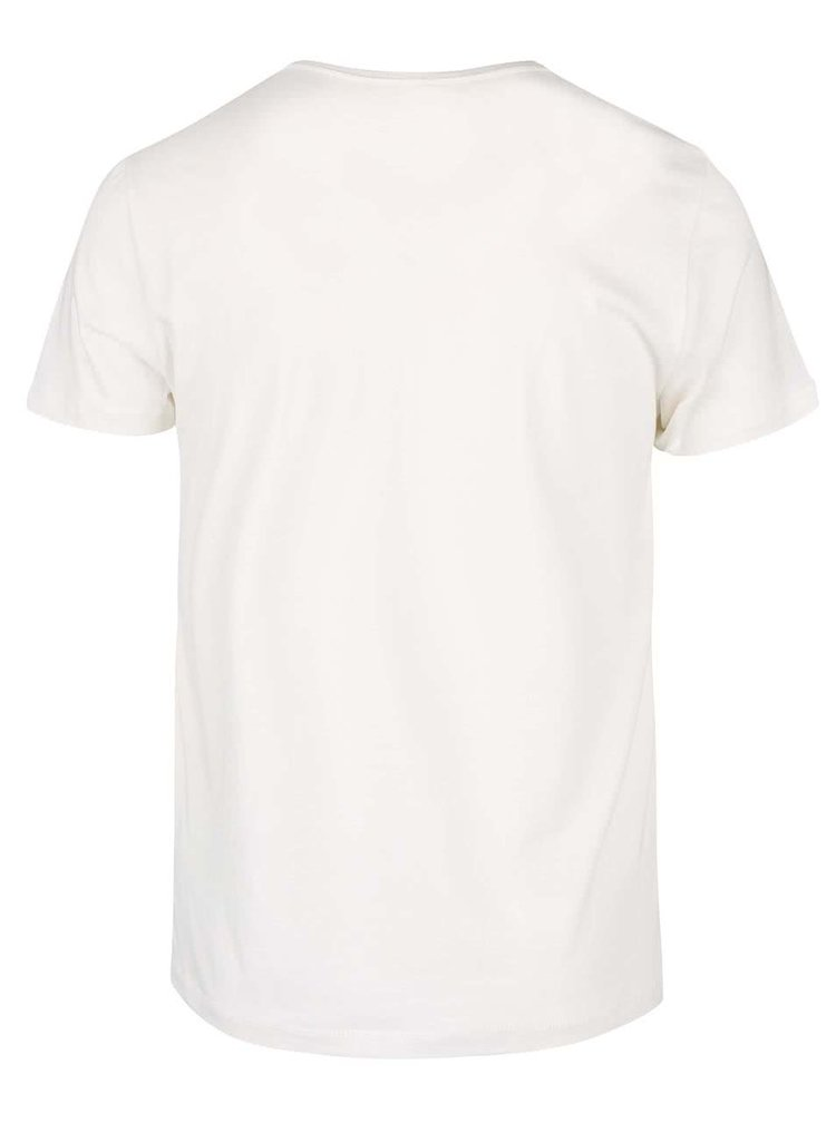 Tricou crem cu imprimeu Blend