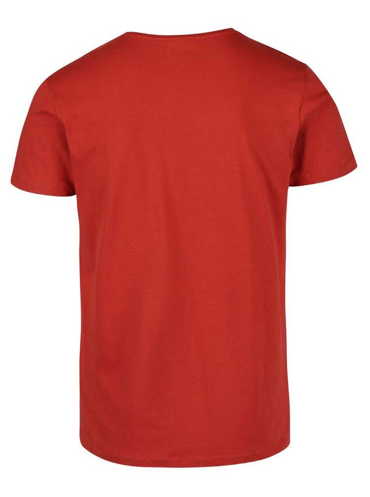 Tricou rosu cu imprimeu Blend