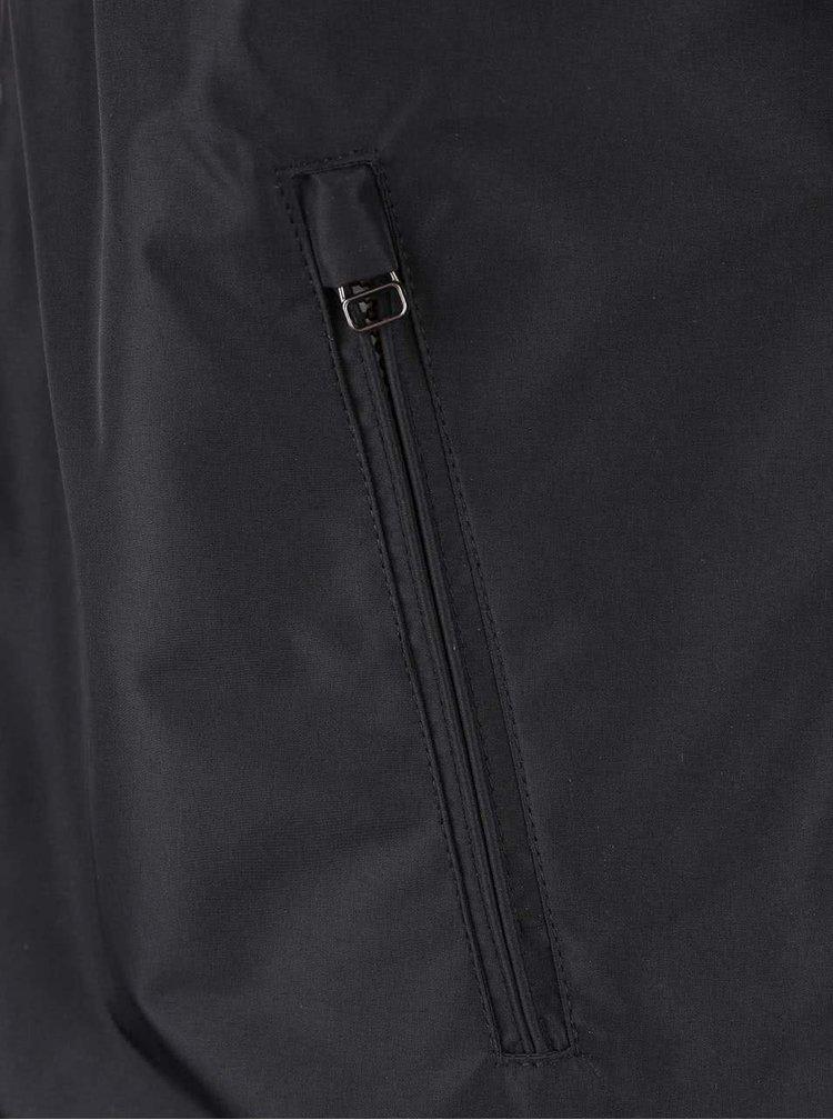 Čierna bunda s kapucňou Jack & Jones New Canyon