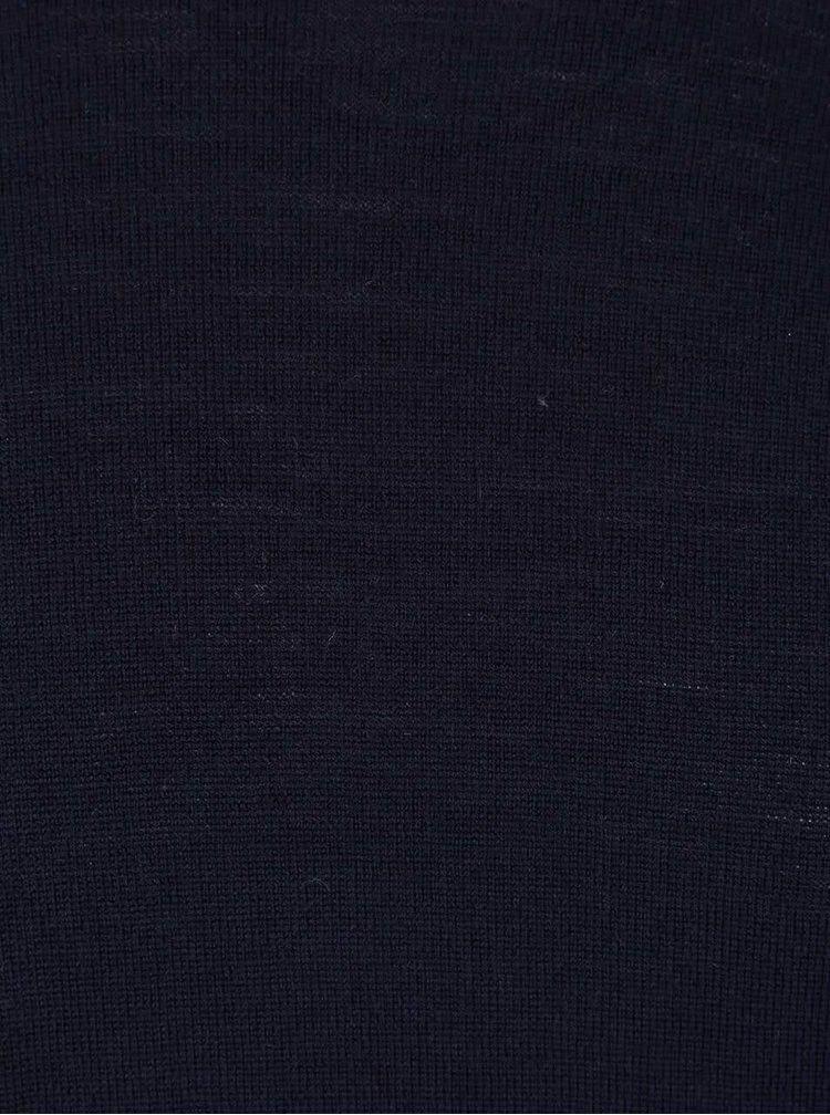 Tmavě modrý svetr z Merino vlny Selected Homme Tower