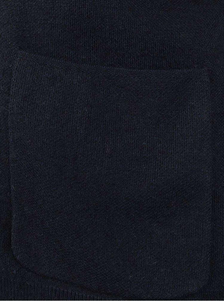Cardigan albastru ultramarin Selected Homme Austin cu buzunare