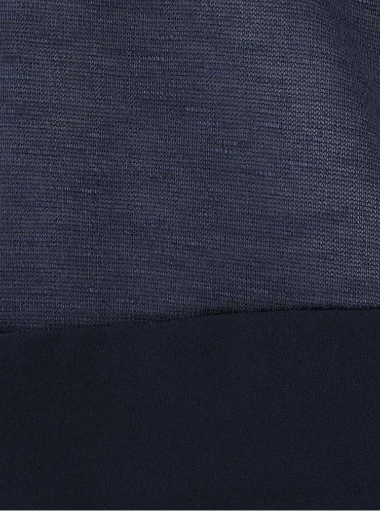 Tmavě modrý žíhaný tenký svetr VERO MODA Babay
