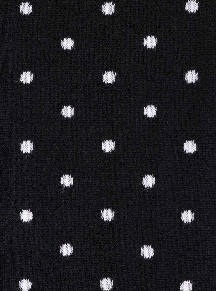 Bluză neagră VERO MODA Ludwig cu buline