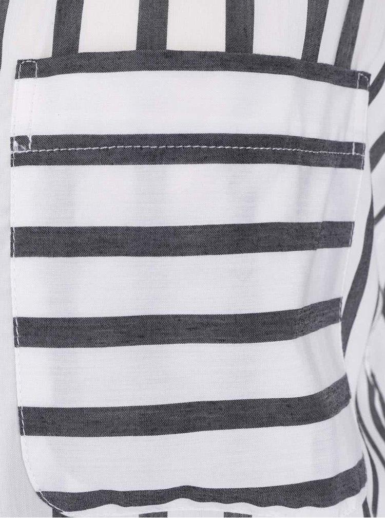Sivo-krémová pruhovaná blúzka bez rukávov VERO MODA Erika