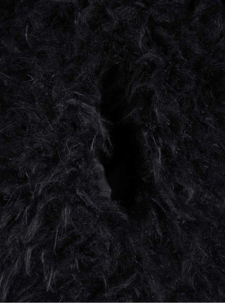 Vesta neagra VERO MODA Jayla din material teddy