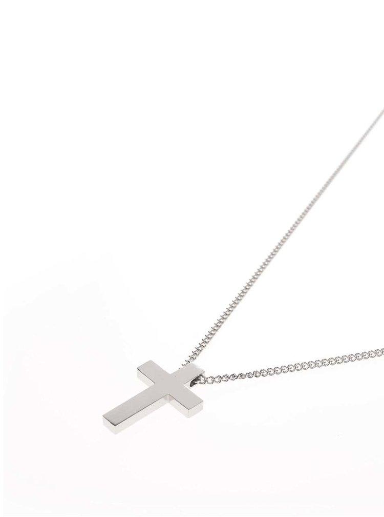 Lănțișor argintiu Lucleon Cross