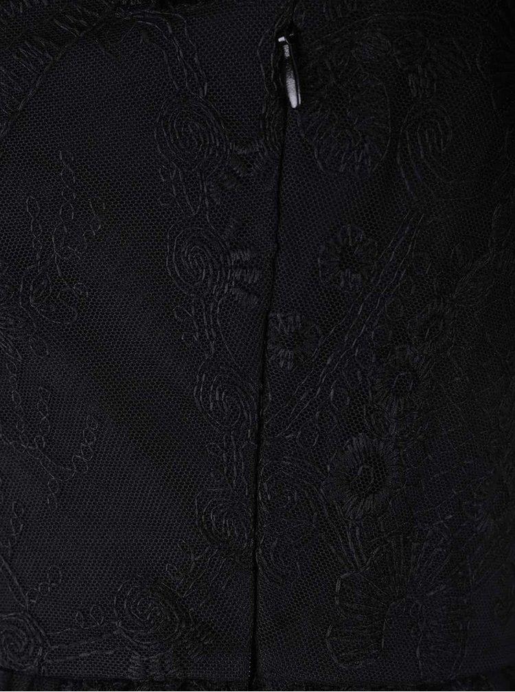 Černé krajkové šaty VERO MODA Maggi