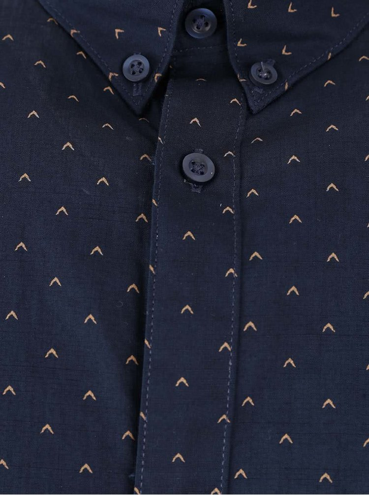 Tmavomodrá košeľa s jemným vzorom Selected Homme Don Elenn