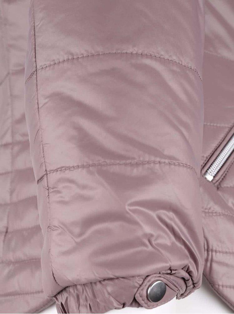 Světle fialová prošívaná bunda VERO MODA Susannah