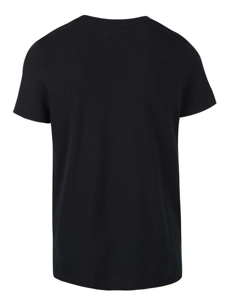Tricou negru Selected Homme Magne din bumbac